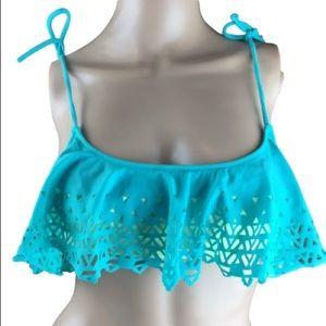 PINK Victoria's Secret Ruffle Swimsuit Bikini Top